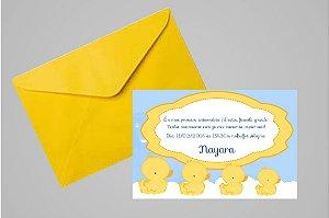 Convite 10x15 Patinho Amarelinho 006