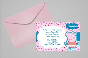 Convite 10x15 Peppa Pig 005