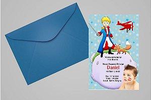 Convite 10x15 Pequeno Principe 002 com foto