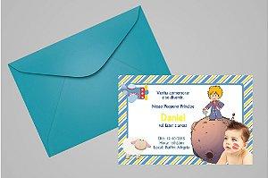 Convite 10x15 Pequeno Principe 004 com foto
