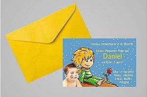 Convite 10x15 Pequeno Principe 007 com foto