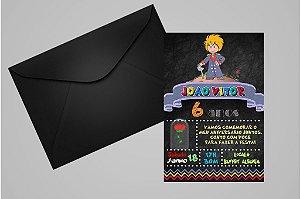 Convite 10x15 Pequeno Principe 010