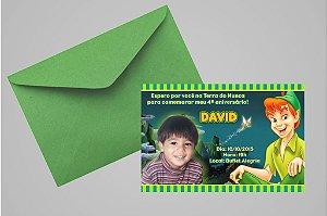 Convite 10x15 Peter Pan 001 com foto