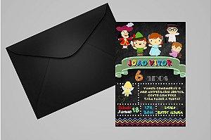 Convite 10x15 Peter Pan 012