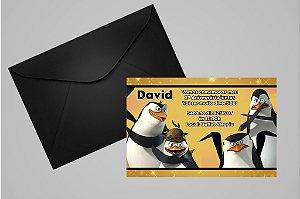 Convite 10x15 Pinguins de Madagascar 001