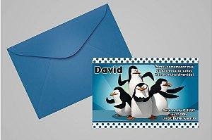 Convite 10x15 Pinguins de Madagascar 003