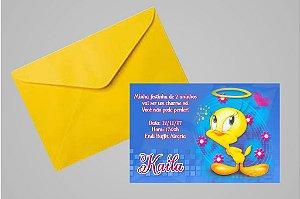 Convite 10x15 Piu-piu Tweety 003