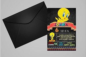 Convite 10x15 Piu-piu Tweety 011
