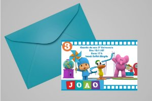 Convite 10x15 Pocoyo 004