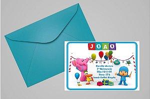 Convite 10x15 Pocoyo 005