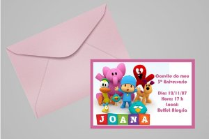 Convite 10x15 Pocoyo 006