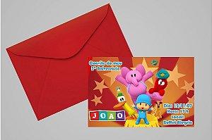 Convite 10x15 Pocoyo 007