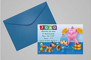 Convite 10x15 Pocoyo 009
