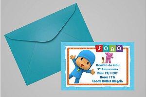 Convite 10x15 Pocoyo 010