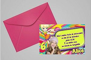Convite 10x15 Polly 005 com foto
