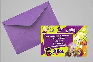 Convite 10x15 Polly 007 com foto