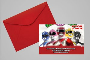Convite Power Rangers 008