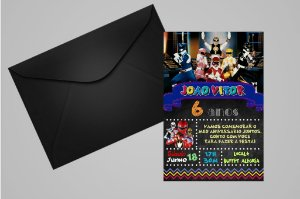 Convite Power Rangers 009