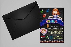 Convite 10x15 Princesa Sofia 010