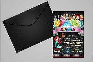Convite 10x15 Princesas Disney 025