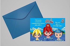 Convite 10x15 Princesas do Mar 001