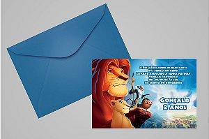 Convite 10x15 Rei Leão 001