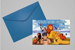 Convite 10x15 Rei Leão 002 com foto