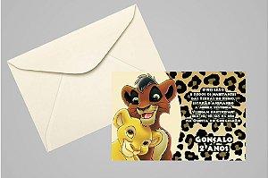 Convite 10x15 Rei Leão 003