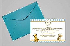 Convite 10x15 Rei Leão 004