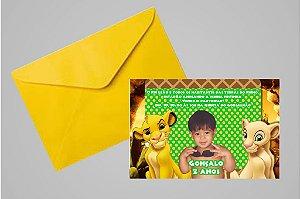 Convite 10x15 Rei Leão 005 com foto