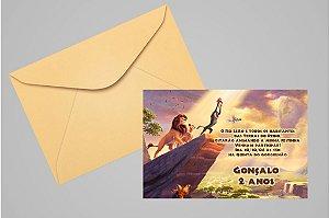 Convite 10x15 Rei Leão 006