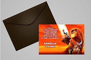 Convite 10x15 Rei Leão 007