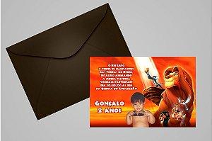 Convite 10x15 Rei Leão 007 com foto