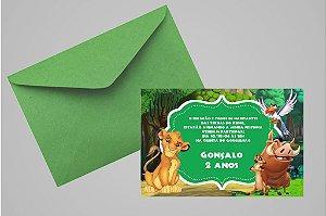 Convite 10x15 Rei Leão 008