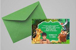 Convite 10x15 Rei Leão 008 com foto