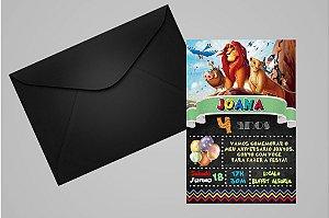 Convite 10x15 Rei Leão 009