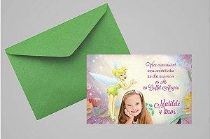 Convite 10x15 Sininho 004 com foto