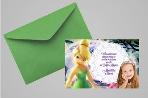 Convite 10x15 Sininho 011 com foto