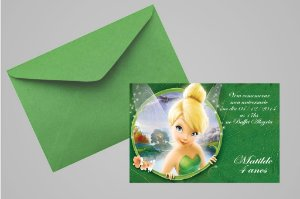 Convite 10x15 Sininho 013