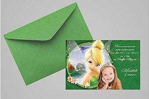 Convite 10x15 Sininho 013 com foto