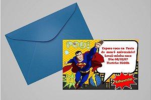 Convite 10x15 Super Homem 002