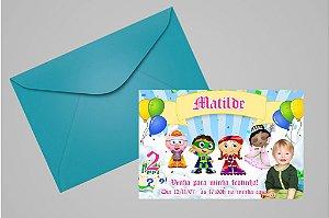 Convite 10x15 Super Why 002 com foto