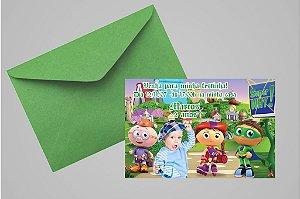 Convite 10x15 Super Why 003 com foto