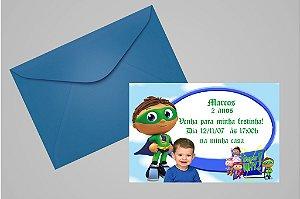 Convite 10x15 Super Why 004 com foto