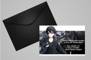 Convite 10x15 Sword Art Online 002