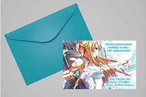Convite 10x15 Sword Art Online 004