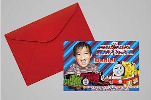 Convite 10x15 Thomas e Seus Amigos 001 com foto