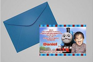 Convite 10x15 Thomas e Seus Amigos 004 com foto