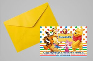 Convite 10x15 Ursinho Pooh 001
