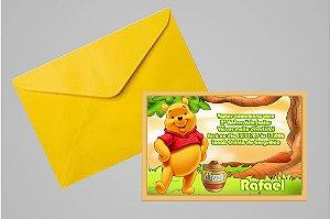 Convite 10x15 Ursinho Pooh -  Ursinho Puff 006